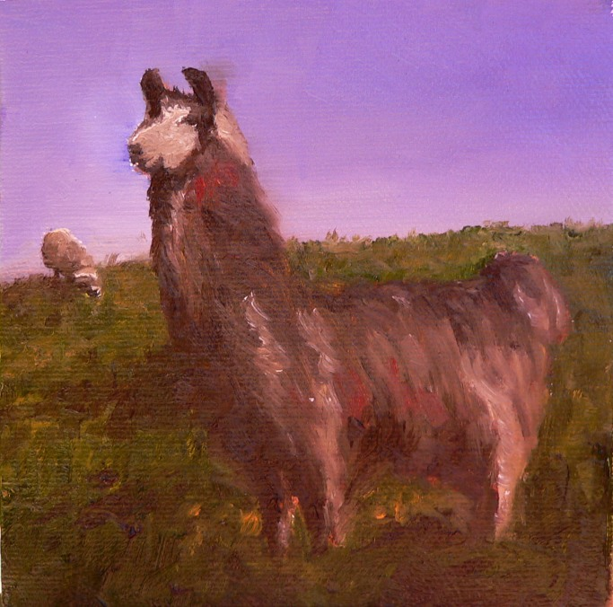 King of the Hill, oil on canvas